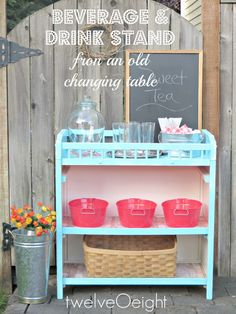 twelveOeight: Beverage Stand From A Changing Table