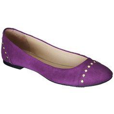 Women's Merona® Manda Studded Ballet Flat - Purple ($20) ❤ liked on Polyvore