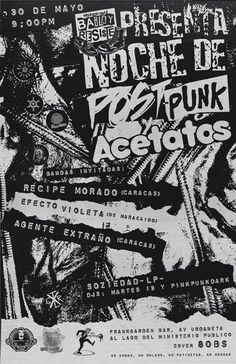 """Cresta Metálica Producciones » """"NOCHE DE POST PUNK Y ACETATOS"""" en Frank Garden Bar este 30 de mayo"""