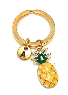 Pineapple Keychain Custom Keychain Custom by GustavsDachshundShop