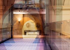 Mise-en-abyme tinted acrylic tunnel installed across V&A bridge