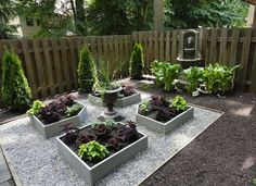 """Goodbye Grass: 13 Inspiring Ideas for a """"No Mow"""" Backyard Raised garden beds aren't just for vegetables. In a shady yard, try planting raised beds with coleus (great way to eliminate weeding) Small Garden Landscape, Small Yard Landscaping, Backyard Ideas For Small Yards, Landscape Design, Small Patio, Large Backyard, No Grass Landscaping, Small Back Garden Ideas No Grass, Garden Ideas Without Grass"""