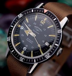 """Vintage rotary #""""aquaplunge"""" broad #arrow stainless steel #automatic dive watch, View more on the LINK: http://www.zeppy.io/product/gb/2/371740215552/"""