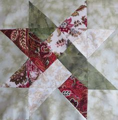 Deshilachado: Bloque del mes: Weave Star / Block of the Month: Weave Star