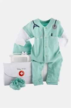 Baby Aspen 'Baby MD' Romper Set (Baby) available at #Nordstrom