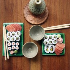 Japan Miniature Food - Sushi | Flickr by petitplat