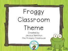 Froggy Classroom Theme Decor - EDITABLE