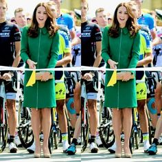 Kate about to cut the ribbon for the Tour de France