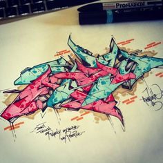 Don't touch my house, my family, my people - by atew one - us crew - 2013 #graffiti #wildstyle #style #sketch #hiphop