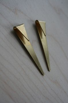 laura lombardi geometric spike earrings