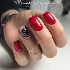 Nail art Christmas - the festive spirit on the nails. Over 70 creative ideas and tutorials - My Nails Red Summer Nails, Green Nails, Pink Nails, My Nails, Trendy Nails, Cute Nails, Short Red Nails, Red Nail Designs, Gelish Nails