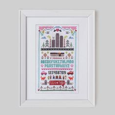 Urban Cross Stitch Pattern Digital Format  PDF by Stitchrovia, £10.00