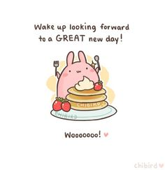 chibird: Get excited for days with bunnies and strawberries and pancakes! u Wooo!(I really loved how this turned out, so I apologize for protecting it with some chibird tags.)