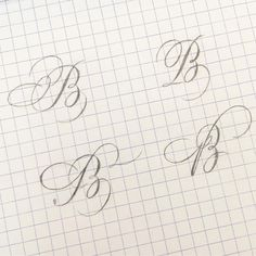B for the challenge lots of erasing going on 😅 Pencil Calligraphy, Calligraphy Fonts Alphabet, Copperplate Calligraphy, Learn Calligraphy, Penmanship, Handwriting Fonts, Script Fonts, Creative Lettering, Lettering Styles