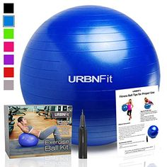 Exercise Ball 55 CM for Stability  Yoga  Workout Guide Incuded  Professional Quality Blue -- You can find out more details at the link of the image.