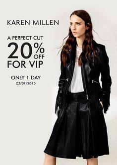 Khuyến mãi 2015 Karen Millen - A Perfect Cut 20% Off for VIP