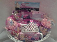 Princess Gift Basket sold by Connie's Creations. Shop more products from Connie's Creations on Storenvy the home of independent small businesses all over the world. Theme Baskets, Girl Gift Baskets, Disney Princess Gifts, Corporate Gift Baskets, Staff Gifts, Christmas Gift Baskets, Easter Bunny Decorations, Little Girl Birthday, Disney Diy