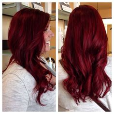 # Fine Hair colors that I like Dark Red Hair, Red Hair Bright Cherry, Ruby Red Hair, Deep Red Hair Color, Gorgeous Hair Color, Red Hair Don't Care, Natural Hair Styles, Long Hair Styles, Love Hair