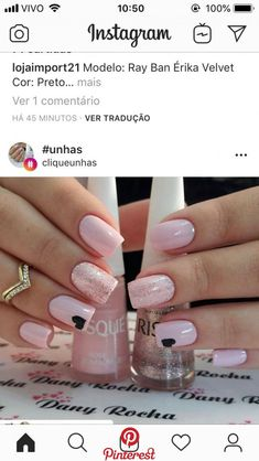 Here are gorgeous nail designs for valentine's day. From the traditional red to pink nail designs and many more. Perfect Nails, Gorgeous Nails, Love Nails, Pink Nails, My Nails, Glitter Nails, Trendy Nails, Stylish Nails, Nail Manicure