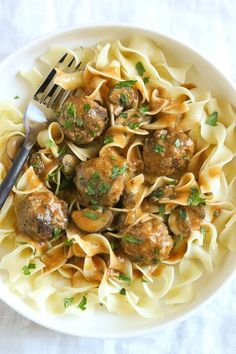 This healthy Turkey Meatball Stroganoff is a dish the whole family will love, which can be made in the Instant Pot, Slow Cooker or on the stove! #instantpot #crockpot #stroganoff #meatballs Turkey Recipes, Dinner Recipes, Instant Pot, Meatball Stroganoff, Turkey Stroganoff, Stroganoff Recipe, Food Tasting, Pasta, Comfort Food