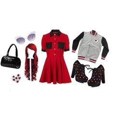 """Red"" by velvetvolcano on Polyvore"