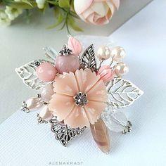 Beaded Brooch, Bijoux Diy, Pearl Earrings, Bows, Bridal, Beadwork, Flowers, Accessories, Jewelry