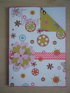 Floral, colour pop card - http://pink-tea-cup.blogspot.co.uk/