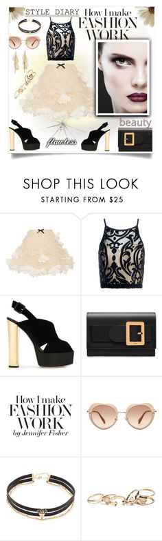 """Crop top & Mini-skirt!"" by jessicad110916 ❤ liked on Polyvore featuring Reem Acra, Sans Souci, Giuseppe Zanotti, Bally, SJP, Miu Miu, Jules Smith, GUESS, Chan Luu and pretty"