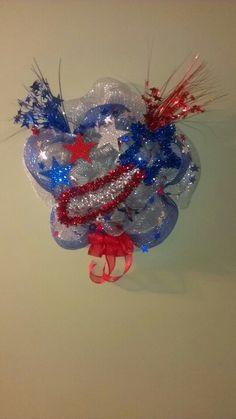 fourth of july mesh wreath ideas