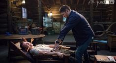"Supernatural -- ""The Things They Carried"" -- Image -- Pictured (L-R): Travis Aaron Wade as Cole and Jensen Ackles as Dean -- Credit: Liane Hentscher/The CW -- © 2015 The CW Network, LLC. All Rights Reservedpn Supernatural Season 10, Supernatural Beings, Supernatural Fandom, Mark Sheppard, Sam Winchester, Misha Collins, Castiel, Mark Of Cain, The Things They Carried"