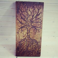 #treeoflife #pyrography #woodwosecarving
