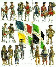 French forces in North America F&I wars.  LARGE IMAGE.