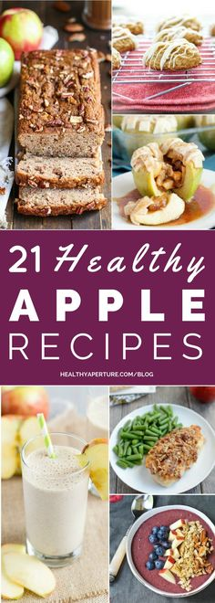 Did you go apple picking this year? Here are 21 Healthy Apple Recipes To Try This Fall! Everything from breakfast to dessert!