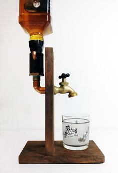 Handmade Wooden Alcohol Dispenser Liquor by SteamVintageWorks