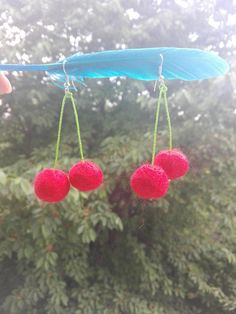 Hey, I found this really awesome Etsy listing at https://www.etsy.com/listing/541935433/red-cherry-hand-made-earrings-chopped