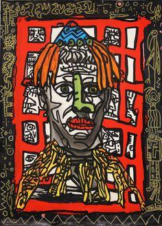 Robert Combas @ Galerie Laurent Strouk Conceptual Art, Surreal Art, Bad Painting, Neo Expressionism, Fauvism, Indigenous Art, Laurent, Rock, Arts