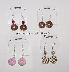 Orecchini Fimo Ciambelle / Donuts Polymer di LeCreazioniDiAngela