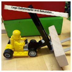 Lego Gabelstapler in 6 Sekunden gebaut :-)