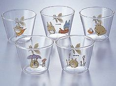 WANT. 5 Dessert Cup Set - Totoro $55.00