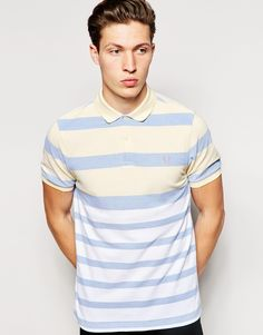 Fred Perry | Fred Perry Polo Shirt with Graduated Stripe Slim Fit at ASOS