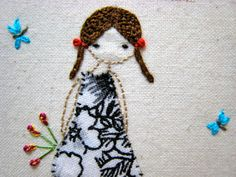 Bits of Stitching!: Lilipopo Flower Picker Girl and #1 Dancing Princess SAL