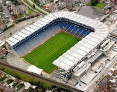 """The Croke Park is a GAA (owner) stadium, located in Dublin in Ireland. It is often referred as the """"Crocker"""" by fans and the residents. The stadium has bee. Soccer Stadium, Football Stadiums, Dublin Ireland, Ireland Travel, Rugby, Croke Park, Irish Culture, Night Life, Places To See"""
