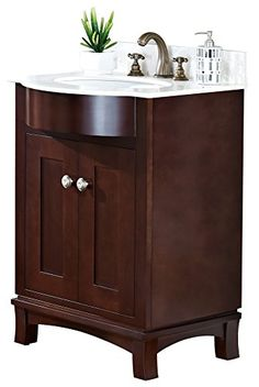 American Imaginations AI-1-1074 Transitional Cherry Wood-Veneer Vanity Set, 24-Inch x 22-Inch, Coffee Finish * Want additional info? Click on the image.