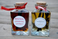 Homemade Vanilla and Cinnamon Extracts: Easy recipe, awesome gift!