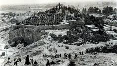 El #Panteon del #Tepeyac, visto desde lo alto del Cerro de #Zacahuitzco en 1909…