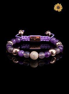 Purple Syringa #purple #bracelet - http://www.twelvethirteen.com/summer-collection