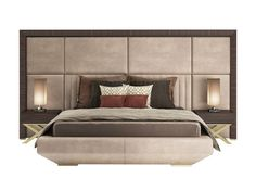 Double Bed Headboards For Bedrooms Double bed with high headboard KIMERA - Capital Collection by Bed Headboard Design, Bedroom Bed Design, Bedroom Furniture Design, Headboards For Beds, Bed Furniture, Modern Bedroom, Master Bedroom, Minimalist Bedroom, Leather King Size Bed