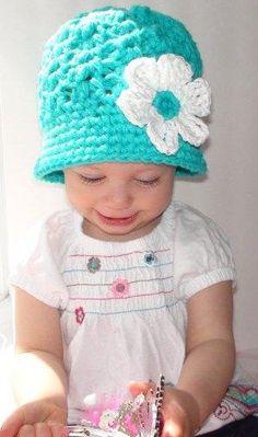 Crochet Cloche Girls Hat newborn hat crochet by LoopsAfterLoops