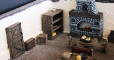 Game Terrain - Furniture Kit. $30.00, via Etsy.