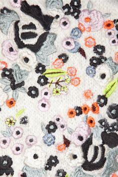 Erdem|Bayley embroidered knitted sweater|NET-A-PORTER.COM